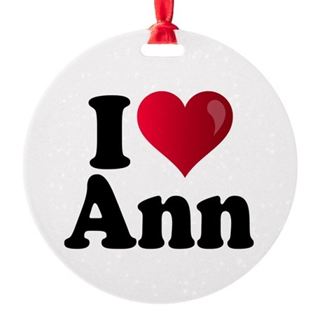 I Heart Ann Romney Round Ornament