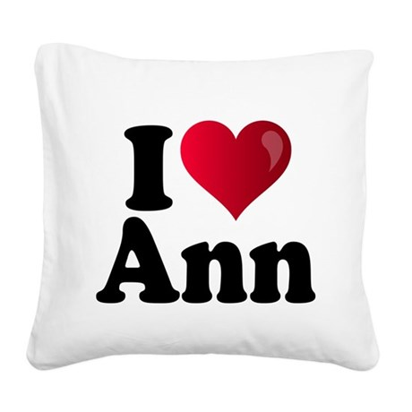 I Heart Ann Romney Square Canvas Pillow