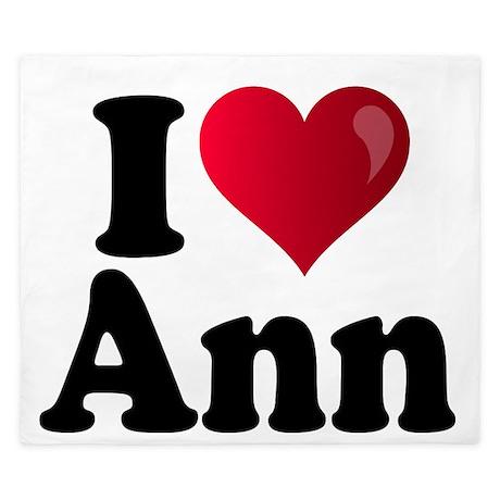 I Heart Ann Romney King Duvet