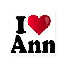 "I Heart Ann Romney Square Sticker 3"" x 3"""