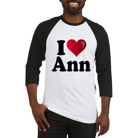 I Heart Ann Romney Baseball Jersey