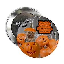 Yorkie Halloween (Puppy Cut) Button