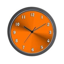 Orange Shimmer Wall Clock