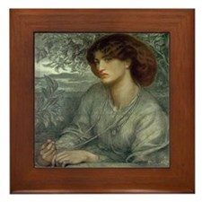 Jane Morris by Rossetti Framed Tile