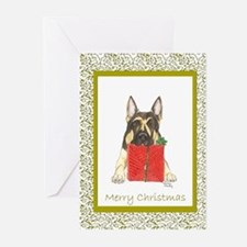 Christmas German Shepherd Greeting Cards (Package