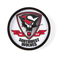 Southwest Wolves est. 2012 Logo Wall Clock