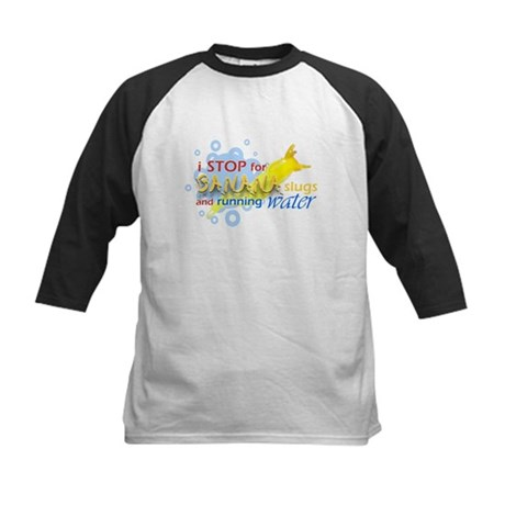 I Stop for Banana Slugs T-Shirt Kids Baseball Jers