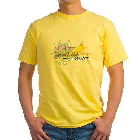 I Stop for Banana Slugs T-Shirt Yellow T-Shirt