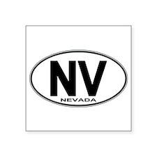 """Cute Nevada euro Square Sticker 3"""" x 3"""""""