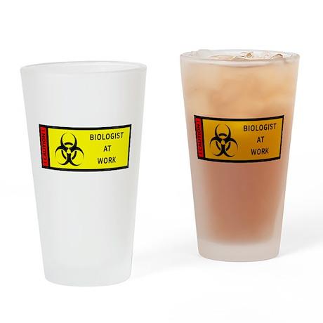 Bio Hazard - Biologist at work Drinking Glass