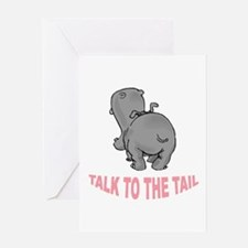 Hippo Talk To The Tail Greeting Card