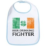 BEER DRINKING FIGHTER Irish Baby Bib