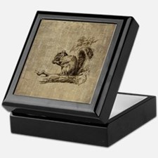 Vintage Squirrel Keepsake Box