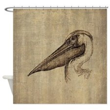 Vintage Pelican Shower Curtain