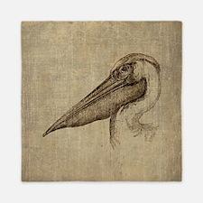 Vintage Pelican Queen Duvet