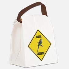 crossing-sign-budgie.png Canvas Lunch Bag