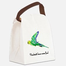 parakeets-fun.png Canvas Lunch Bag