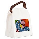 Tropical Parrot Canvas Lunch Bag