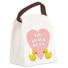 FIN-quack-me-up.png Canvas Lunch Bag