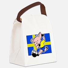 sweden-soccer-pig.png Canvas Lunch Bag