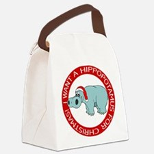 FIN-hippo-christmas-rev.png Canvas Lunch Bag