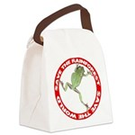 FIN-save-rainforest-treefrog.png Canvas Lunch Bag