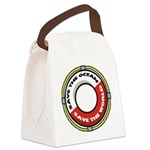 FIN-save-ocean-save-world.png Canvas Lunch Bag