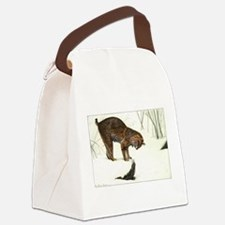 FIN-bobcat.png Canvas Lunch Bag