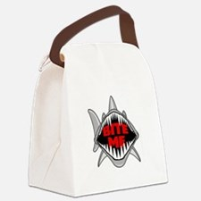 Bite Me Shark Canvas Lunch Bag