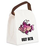 FIN-ugly-beta-fish.png Canvas Lunch Bag