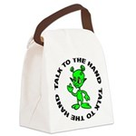 FIN-alien-hand.png Canvas Lunch Bag