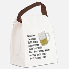 FIN-glass-half-full.png Canvas Lunch Bag
