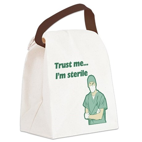 FIN-trust-me-sterile.png Canvas Lunch Bag
