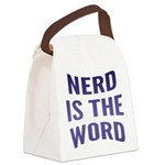 FIN-nerd-is-the-word.png Canvas Lunch Bag