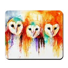 Row of Owls ~ Mousepad