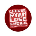 "Choose Ryan Lose Choice 3.5"" Button (100 pack)"