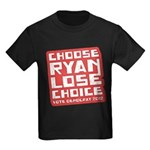 Choose Ryan Lose Choice Kids Dark T-Shirt
