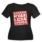 Choose Ryan Lose Choice Women's Plus Size Scoop Ne