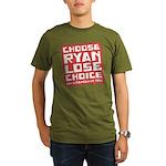 Choose Ryan Lose Choice Organic Men's T-Shirt (dar
