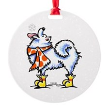 Samoyed Eskie Snowflake Ornament