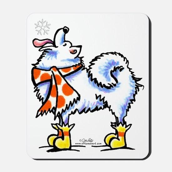 Samoyed Eskie Snowflake Mousepad