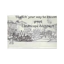 Landscape Architect Rectangle Magnet