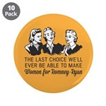 "Women Last Choice 3.5"" Button (10 pack)"