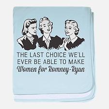 Women Last Choice baby blanket