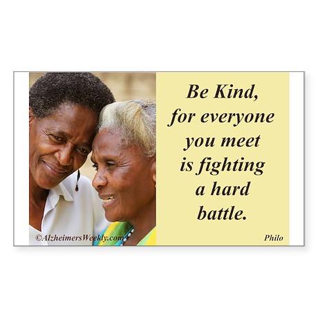 'Be Kind' Sticker (Rectangle 10 pk)
