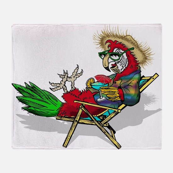 Parrot Beach Chair Throw Blanket