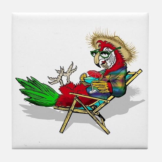 Parrot Beach Chair Tile Coaster