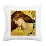 Sancta Lilias by Rossetti Square Canvas Pillow