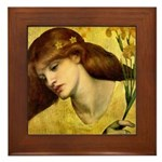 Sancta Lilias by Rossetti Framed Tile