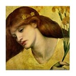 Sancta Lilias by Rossetti Tile Coaster